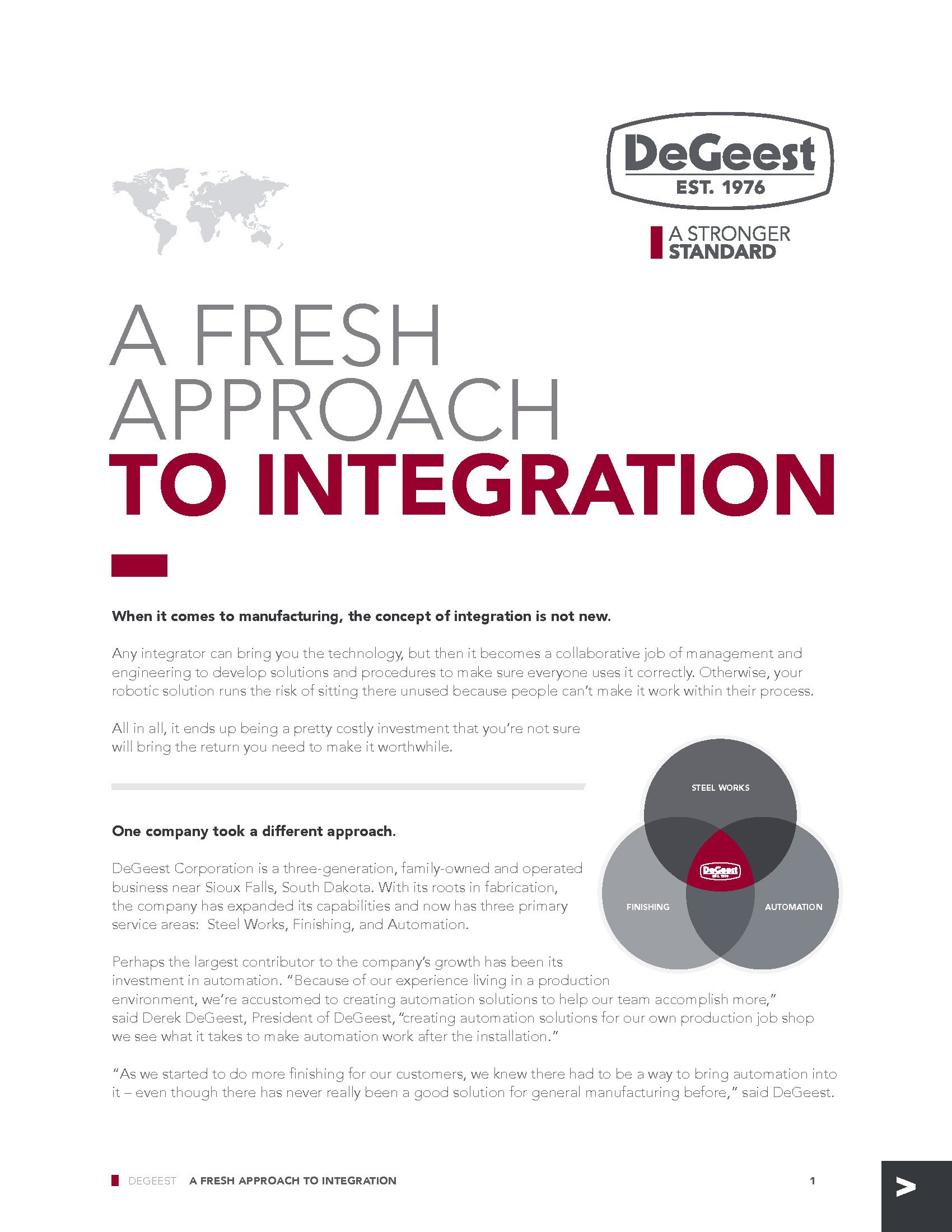 DeGeest Lesta Thought Paper - A Fresh Approach to Integration