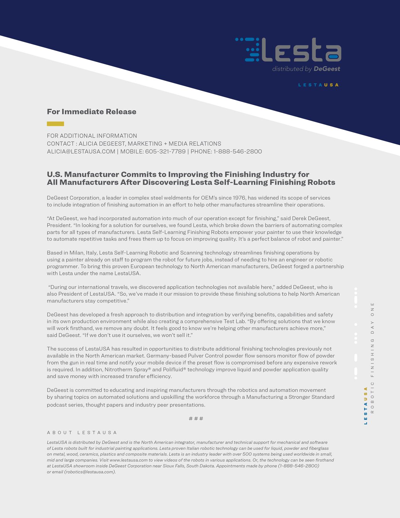 Lesta-Press-Release---FABTECH-2021